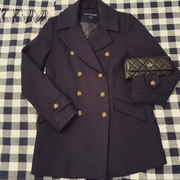 French connection wool military peacoat